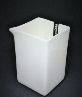 Leiteira quadrada porcelana