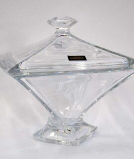 Bombonière quadrada cristal