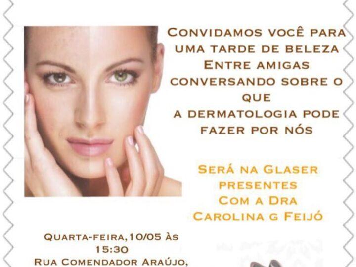 Tarde de beleza entre amigas com a dermatologista Carolina Feijó